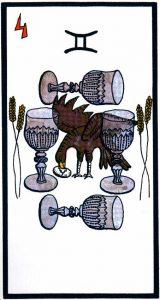 4 Кубков El Gran Tarot Esoterico Fournier