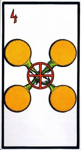4 Пентаклей El Gran Tarot Esoterico Fournier