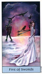 5 Мечей Crystal Visions Tarot