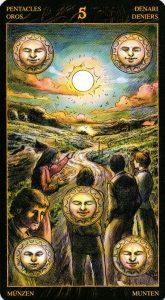 5 Пентаклей Таро Возрождения 2012Tarot of Ascension