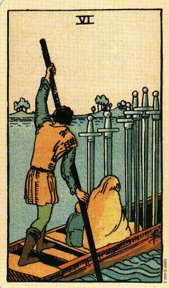6 Мечей The Smith-Waite Tarot Centennial Edition