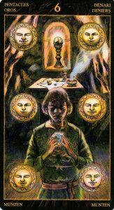 6 Пентаклей Таро Возрождения 2012Tarot of Ascension