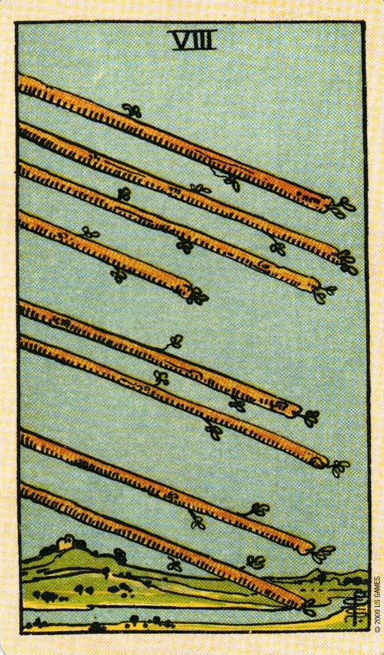 8 Жезлов The Smith-Waite Tarot Centennial Edition