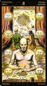 8 Пентаклей Таро Возрождения 2012Tarot of Ascension
