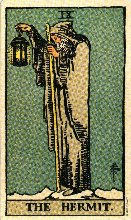 9 Аркан Отшельник The Smith-Waite Tarot Centennial Edition