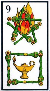 9 Жезлов El Gran Tarot Esoterico Fournier