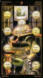 9 Пентаклей Таро Возрождения 2012Tarot of Ascension
