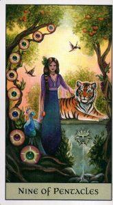 9 Пентаклей Crystal Visions Tarot