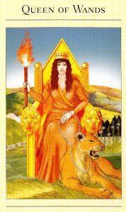 Королева Жезлов The New Mythic Tarot