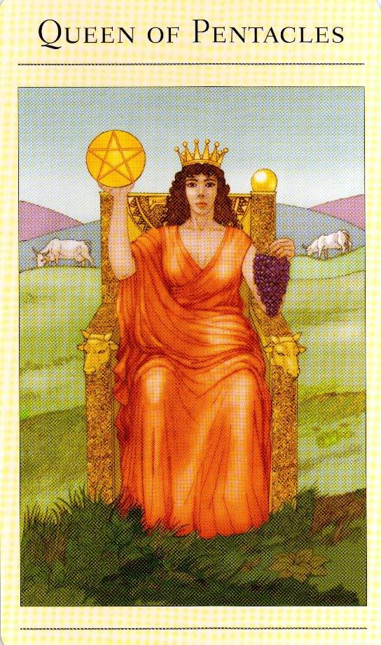 Королева Пентаклей The New Mythic Tarot