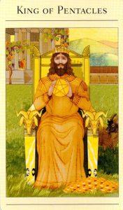 Король Пентаклей The New Mythic Tarot