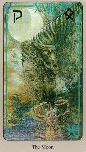 18 Луна The Haindl Tarot