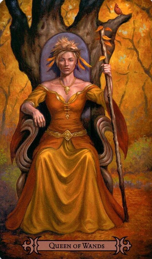 Королева Жезлов Modern Spellcaster's Tarot