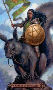 Рыцарь Пентаклей Modern Spellcaster's Tarot
