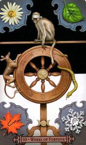 10 Аркан Колесо Фортуны Modern Spellcaster's Tarot