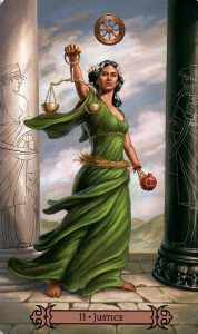 11 Аркан Справедливость Modern Spellcaster's Tarot