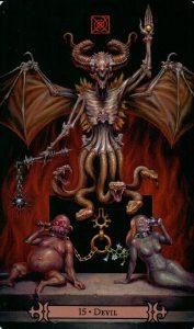 15 Аркан Дьявол Modern Spellcaster's Tarot