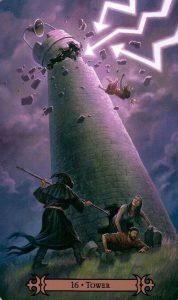 16 Аркан Башня Modern Spellcaster's Tarot