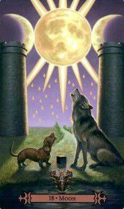 18 Аркан Луна Modern Spellcaster's Tarot