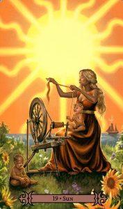 19 Аркан Солнце Modern Spellcaster's Tarot