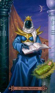 2 Аркан Верховная Жрица Modern Spellcaster's Tarot