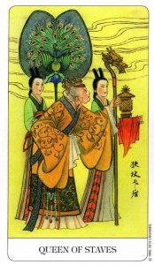 Королева Посохов Chinese Tarot Китайское Таро