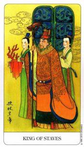 Король Посохов Chinese Tarot Китайское Таро