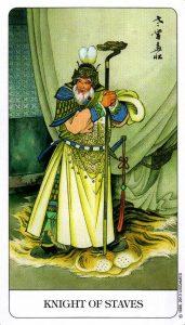 Рыцарь Посохов Chinese Tarot Китайское Таро