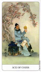 Туз Монет Chinese Tarot Китайское Таро
