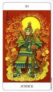 11 Правосудие Chinese Tarot Deck Китайское Таро