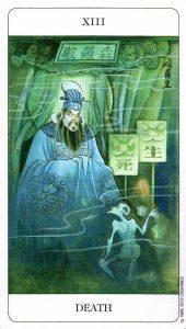 13 Смерть Chinese Tarot Deck Китайское Таро