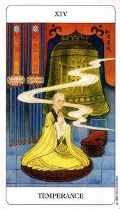 14 Умеренность Chinese Tarot Deck Китайское Таро