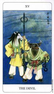 15 Дьявол Chinese Tarot Deck Китайское Таро