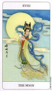 18 Луна Chinese Tarot Deck Китайское Таро