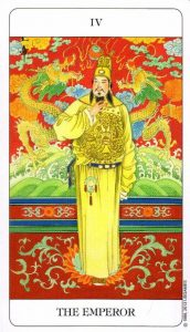 4 Император Chinese Tarot Deck Китайское Таро