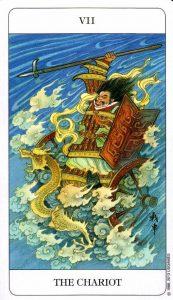 7 Колесница Chinese Tarot Deck Китайское Таро