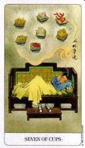 7 Кубков Chinese Tarot Китайское Таро