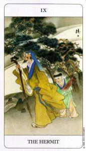 9 Отшельник Chinese Tarot Deck Китайское Таро