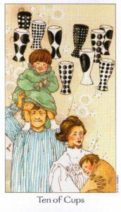 10 Кубков Таро Путь Сновидений Dreaming Way Tarot