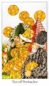 10 Пентаклей Таро Путь Сновидений Dreaming Way Tarot