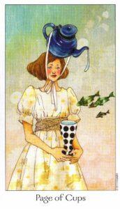 11 Паж Кубков Таро Путь Сновидений Dreaming Way Tarot