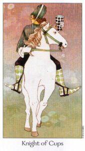 12 Рыцарь Кубков Таро Путь Сновидений Dreaming Way Tarot