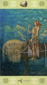 12 Рыцарь Мечей Таро Джона Бауэра John Bauer Tarot