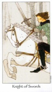 12 Рыцарь Мечей Таро Путь Сновидений Dreaming Way Tarot