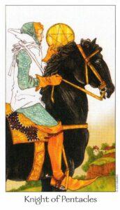 12 Рыцарь Пентаклей Таро Путь Сновидений Dreaming Way Tarot