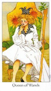 13 Королева Жезлов Таро Путь Сновидений Dreaming Way Tarot