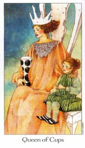 13 Королева Кубков Таро Путь Сновидений Dreaming Way Tarot