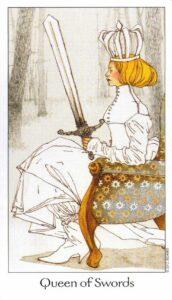 13 Королева Мечей Таро Путь Сновидений Dreaming Way Tarot