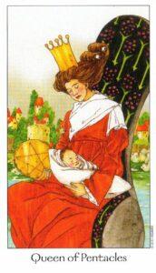 13 Королева Пентаклей Таро Путь Сновидений Dreaming Way Tarot