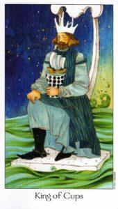 14 Король Кубков Таро Путь Сновидений Dreaming Way Tarot